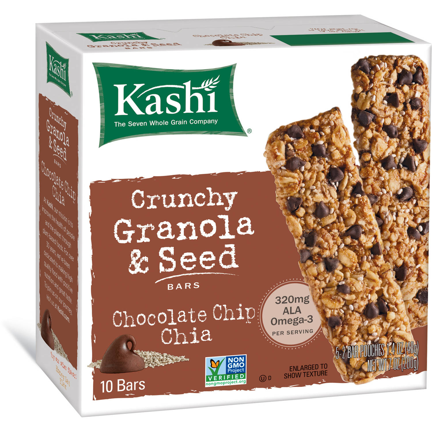 Bar Crnchy Choc Chip Chia, 7 Oz (pack Of