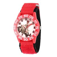 Disney Toy Story 4 Duke Caboom Boys' Red Plastic Watch, 1-Pack