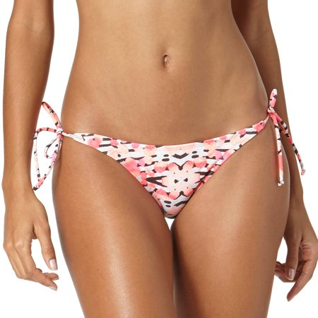 Op Juniors Swim Cheetah Rush Mixed Print Side Tie Bikini Bottom