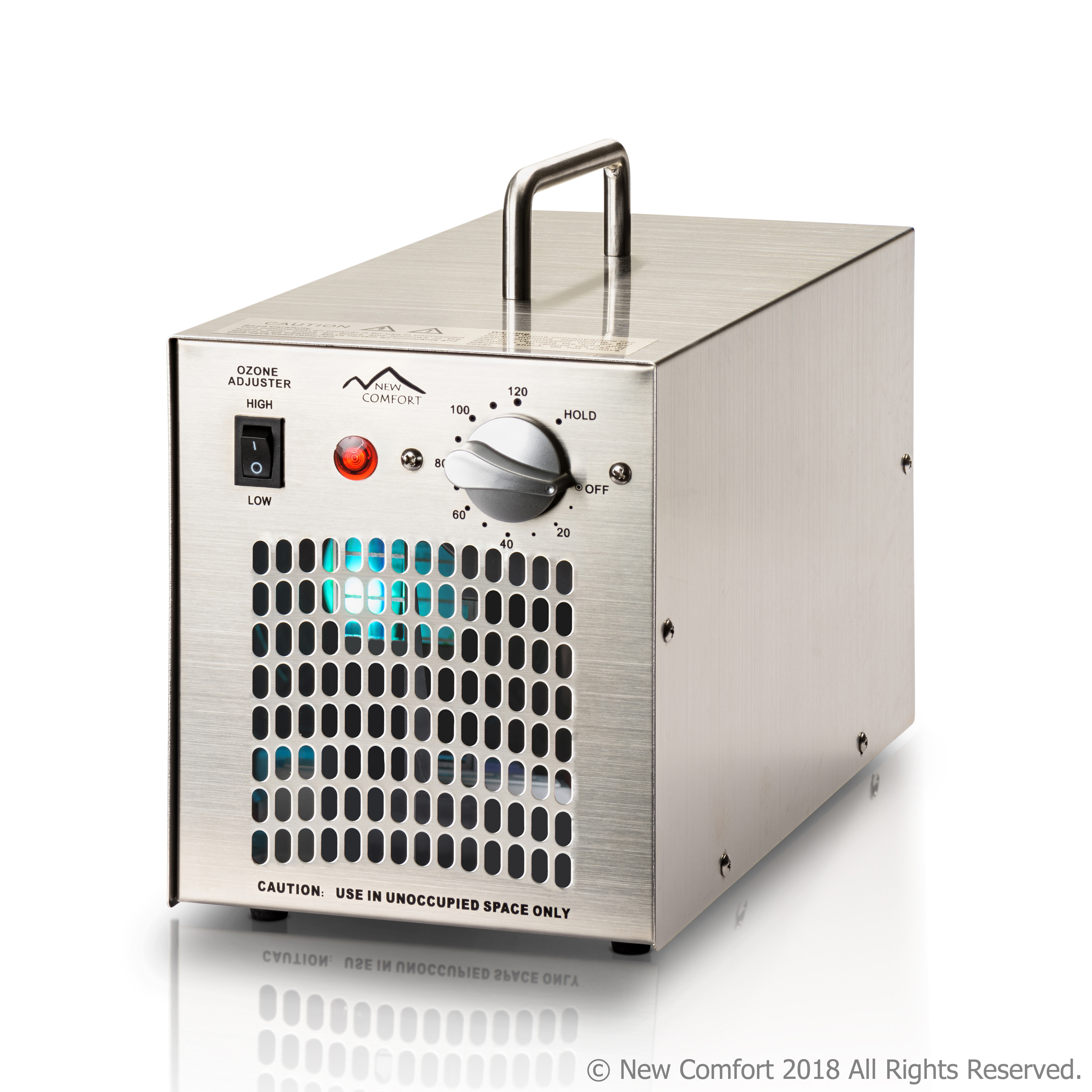 New Comfort Stainless Steel Commercial Ozone Generator UV Air Purifier 7000 Mg Industrial Stregnth
