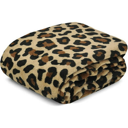 "Mainstays Cozy Micro Plush Fleece 50"" x 60"" Cheetah Throw Blanket, 1 Each"