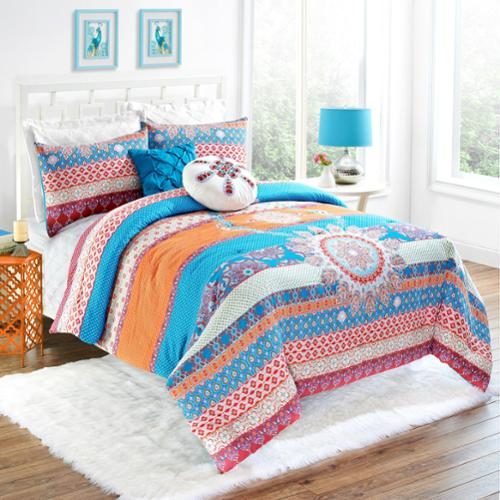 Vue Vista Reversible Stripe 5-piece Cotton Comforter Set King 5 Piece Set