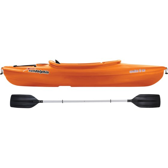Sun Dolphin Aruba 8' SS Sit-In Kayak, Paddle Included