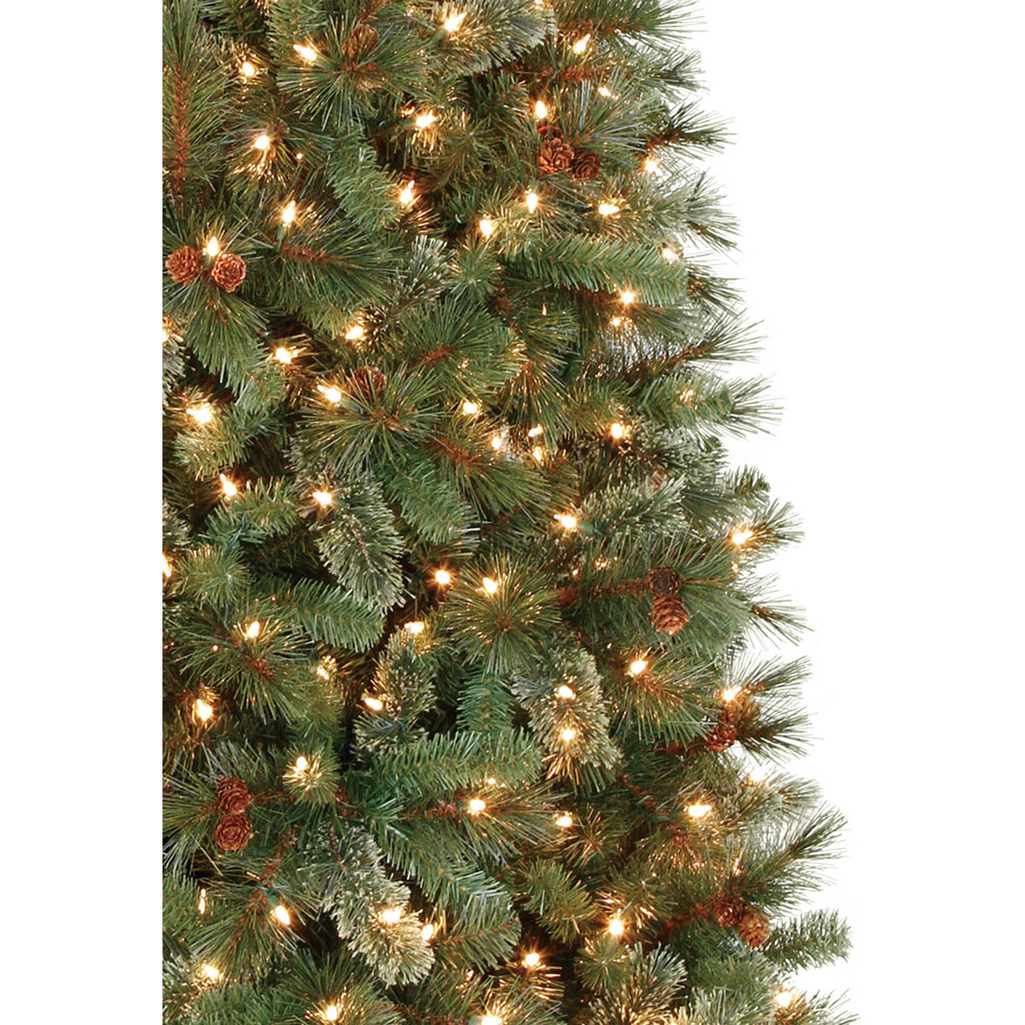 holiday time prelit 7u0027 brookfield fir artificial christmas tree clear lights walmartcom