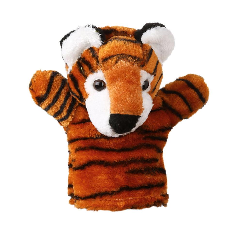 Mosunx Cute Cartoon Animal Doll Kids Glove Hand Puppet Soft Plush Toys Story Telling B