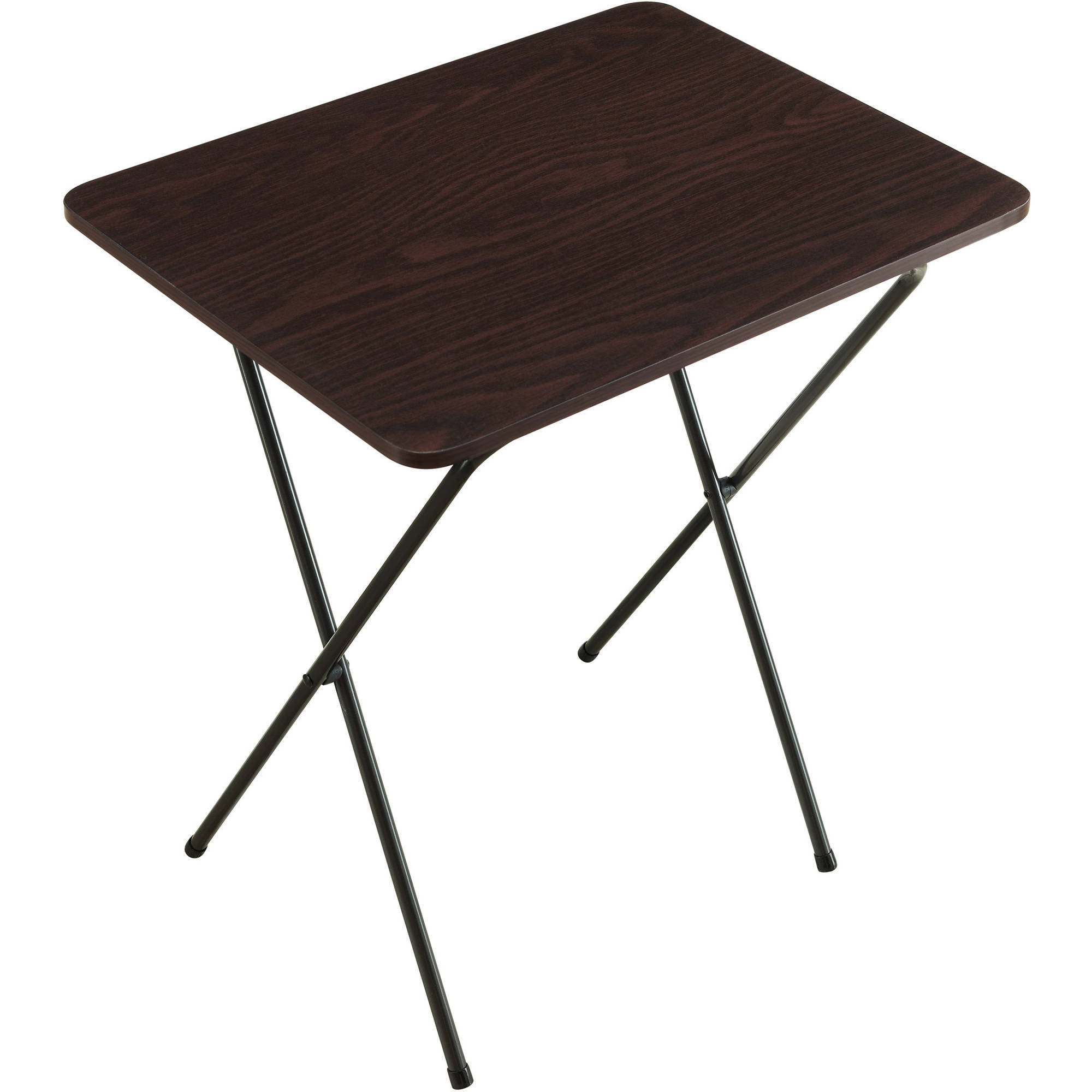 Table Walmart: Mainstays Espresso Folding Tray Table