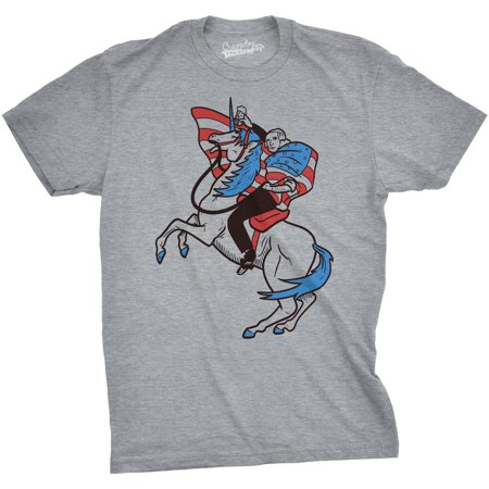 Crazy Dog TShirts - Mens George Washington Unicorn Funny Shirts ...