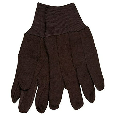 (12 Pair) Memphis 7100P Brown Jersey Work Gloves All Cotton, Size Large By Memphis Gloves