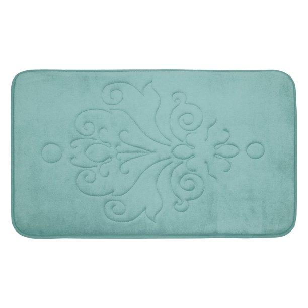 Bounce Comfort Reve Microplush Memory Foam Bath Mat   Walmart.