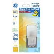 GE Lighting 60308 Energy Smart Bright From The Start CFL 25-watt 1500-Lumen A23 Light Bulb with Medium Base, 1-Pack