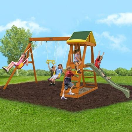 Big Backyard Madison Wooden Swing Set (box 1 of 2 ...