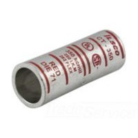 Ilsco CT-8 Copper Compression Sleeve Short Barrel, 8 AWG, Red, Type CT,