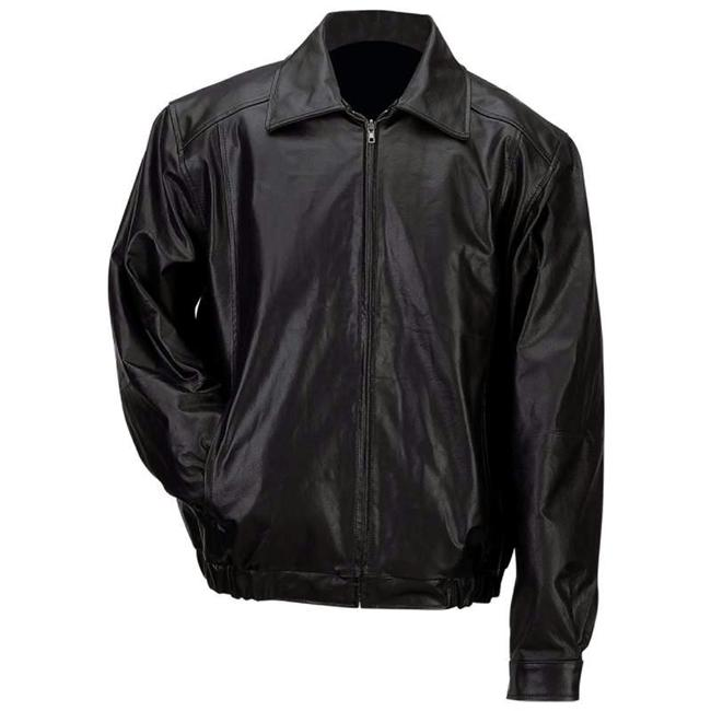 Gianni Collani Solid Leather Bomber JACKET-XL