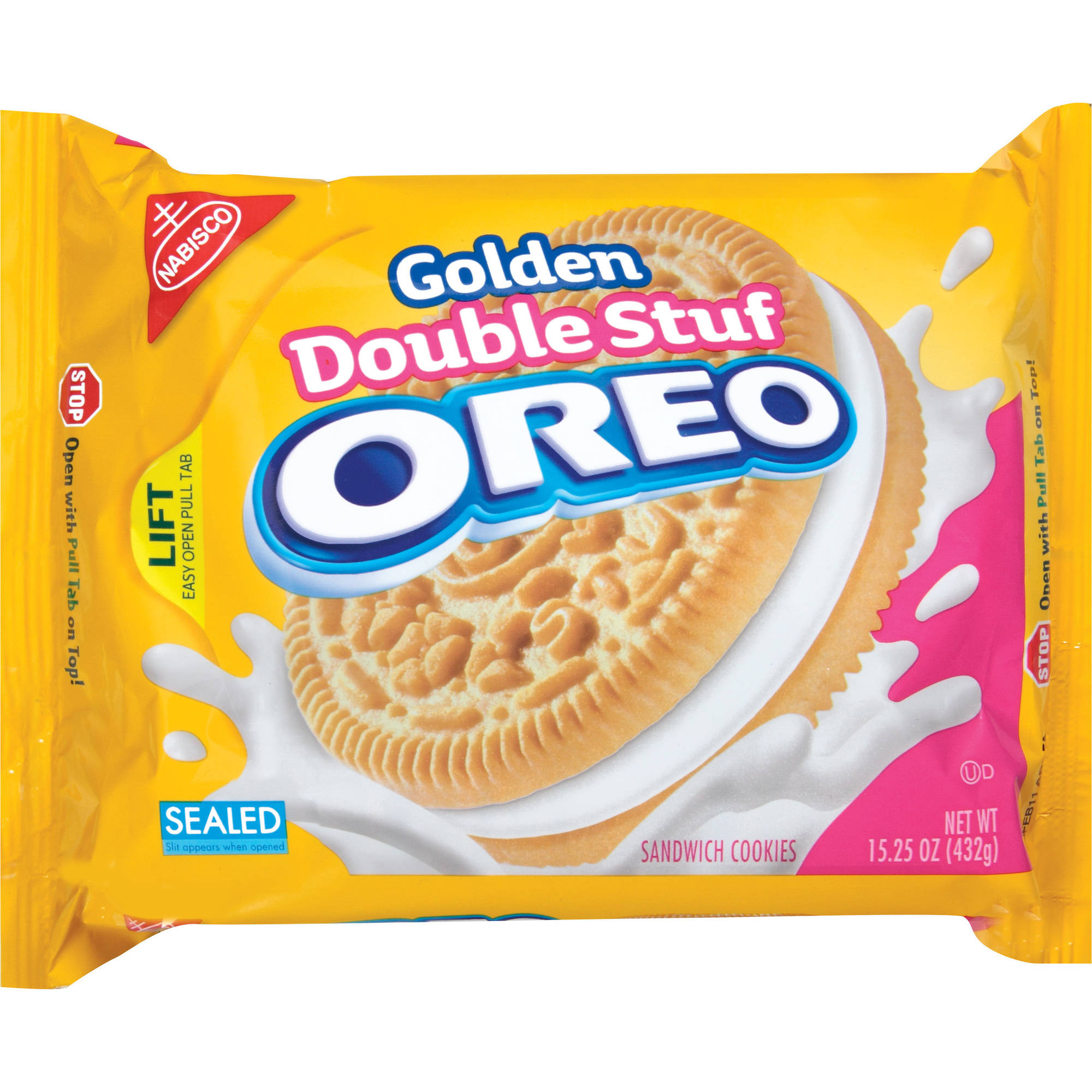 Nabisco Oreo Double Stuf Golden Sandwich Cookies, 15.25 oz