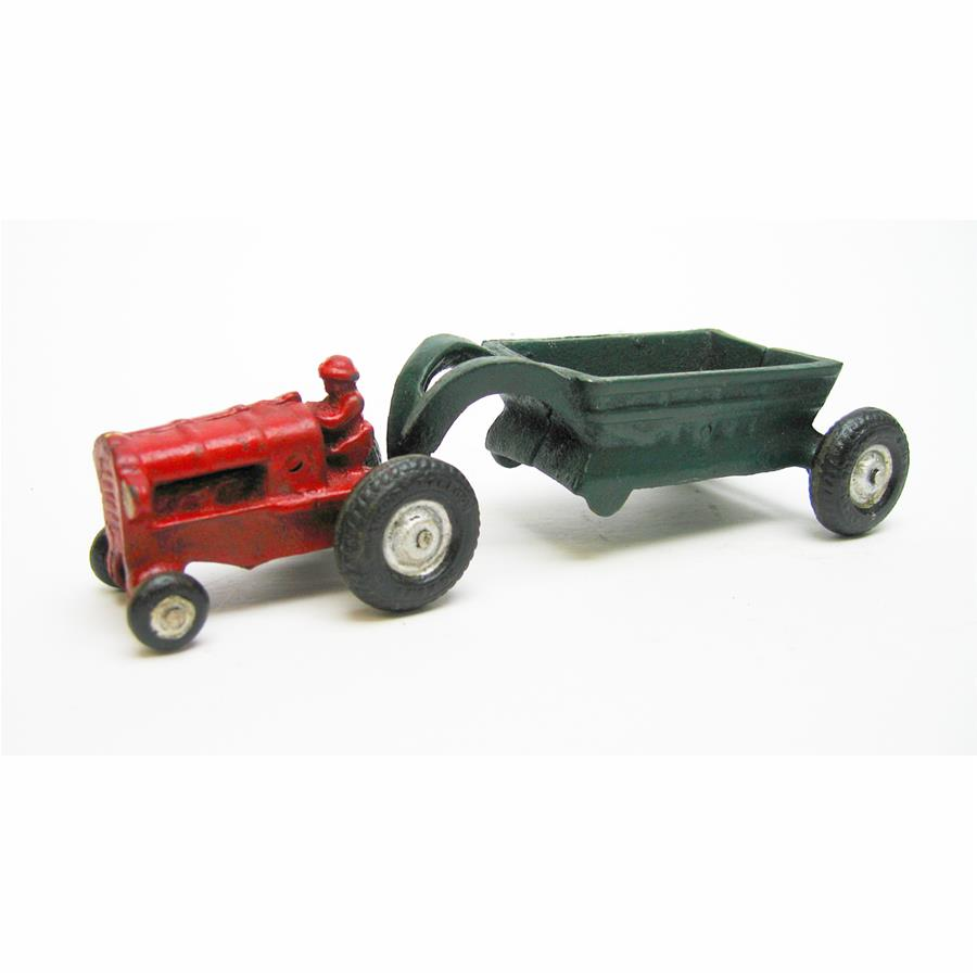 Gentleman Farmer Replica Cast Iron Farm Toy Tractor by Design Toscano