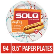 """Solo Paper Lunch Plates, 8.5"""", 94 Count"""