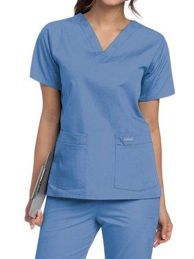Landau Women's V-Neck Tunic Scrub Top, Style 8219
