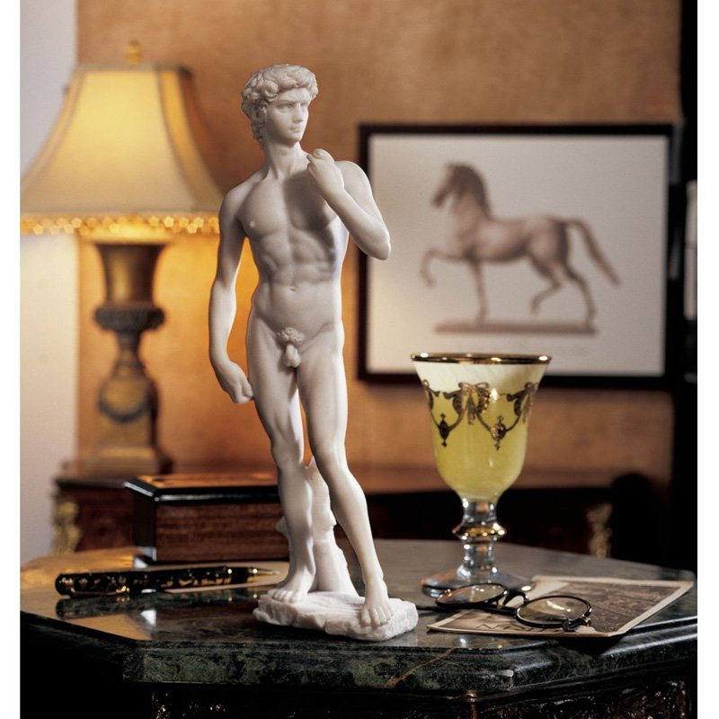 Design Toscano Inc 12H in. David (1504) Bonded Marble Statue by Design Toscano