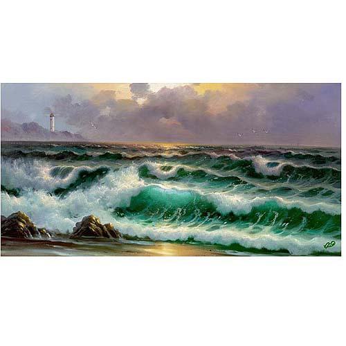 "Trademark Fine Art ""Waves III"" Canvas Art"