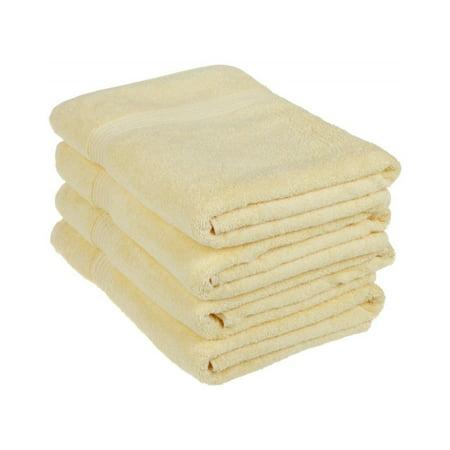 Four Piece Bath Towel Set - Medium Weight And (Is Burgundy Purple)
