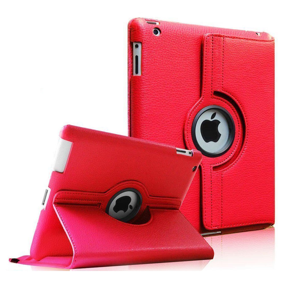 Fintie Apple iPad 2/3/4 Case - 360 Degree Rotating Stand Smart Case Cover (Auto Wake/Sleep Feature), Red