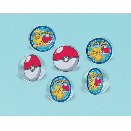 Pokemon Bounce Balls [6 per Pack] - Wholesale Pokemon