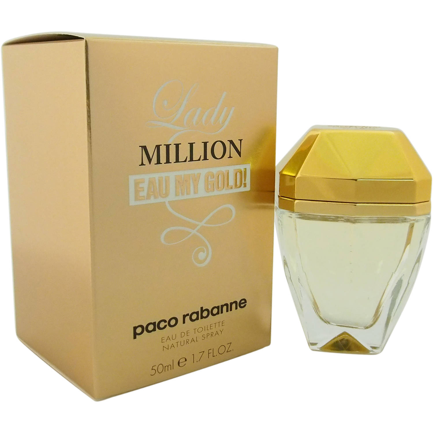 Paco Rabanne Women's Lady Million Eau My Gold! Perfume, 1.7 oz