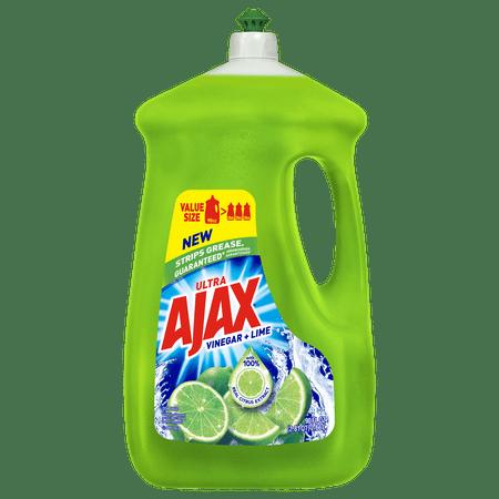 Ajax Ultra Triple Action Liquid Dish Soap, Lime - 90 fluid ounce