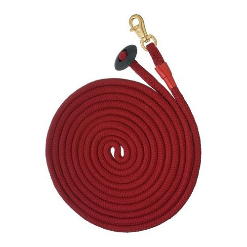 Tough-1 Rolled Cotton Lunge Line with Solid Brass Snap - 6 Pack Assorted
