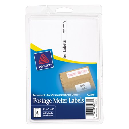 Avery Postage Meter Labels For Personal Post Office E700  1 3 16 X 6  White  60 Pack