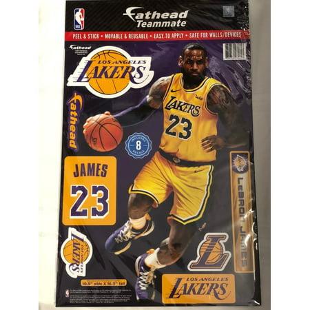 880f1b7a6edd Lebron James LA Lakers 2018 Fathead Teammate Sticker Wall Decal 10.5x16.5 -  Walmart.com