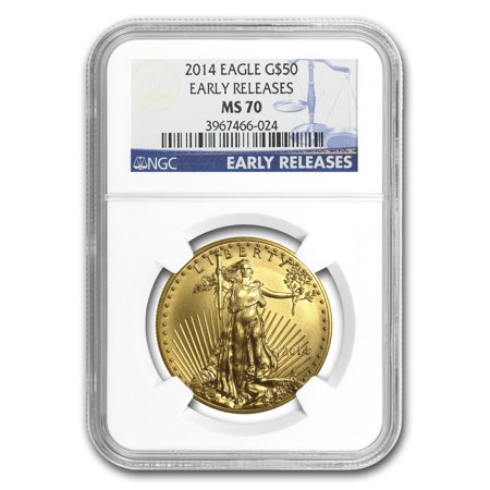 Gold Eagle Ms70 Early Release (2014 1 oz Gold American Eagle MS-70 NGC (Early Releases) )