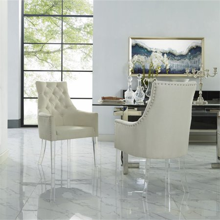 Colton Cream White Dining Chair Linen Set Of 2