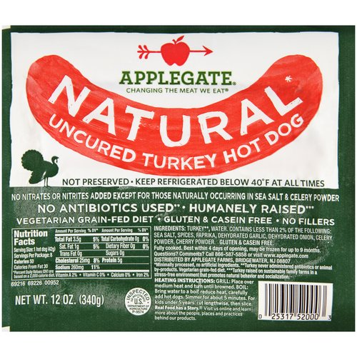 Image Result For Applegate Farms Natural Turkey Dogs