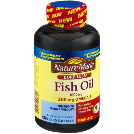 Nature made fish oil 1000mg burpless 150 ct pack of 3 for Nature made fish oil