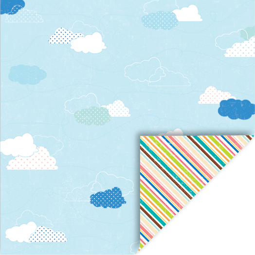 Summer Double-Sided Cardstock 12 Inch X 12 Inch-Clouds-Diagonals