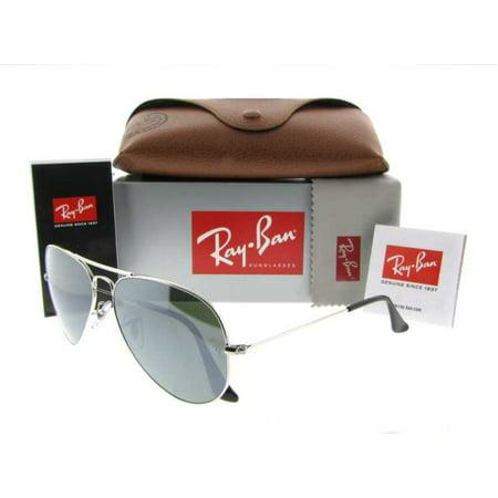 Ray Ban RB 3025 003/32 58mm Silver Light Grey Gradient Aviator Sunglasses