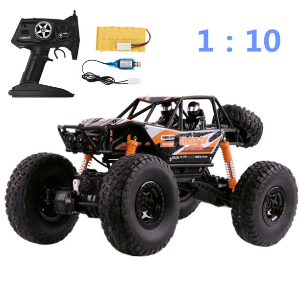 1 10 Scale Rc Car 2 4g 4wd Electric Remote Control Monster Truck Off Road Vehicle With Rechargable Battery Size 18 89 X10 62 X9 84 Walmart Com Walmart Com