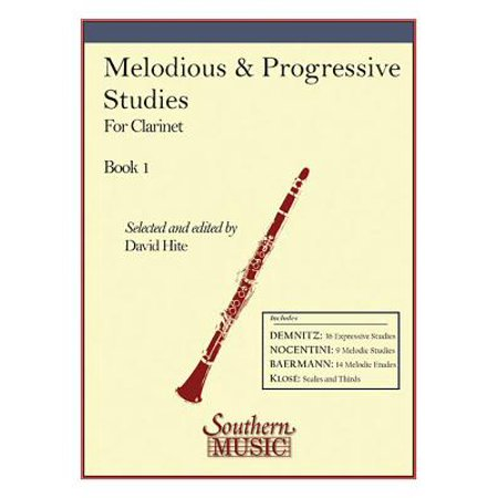 B-flat Clarinet Music Book - Melodious and Progressive Studies, Book 1 : Clarinet