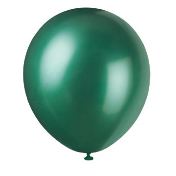 10 Pearlized Latex Balloons Jade](Pearlized Balloons)
