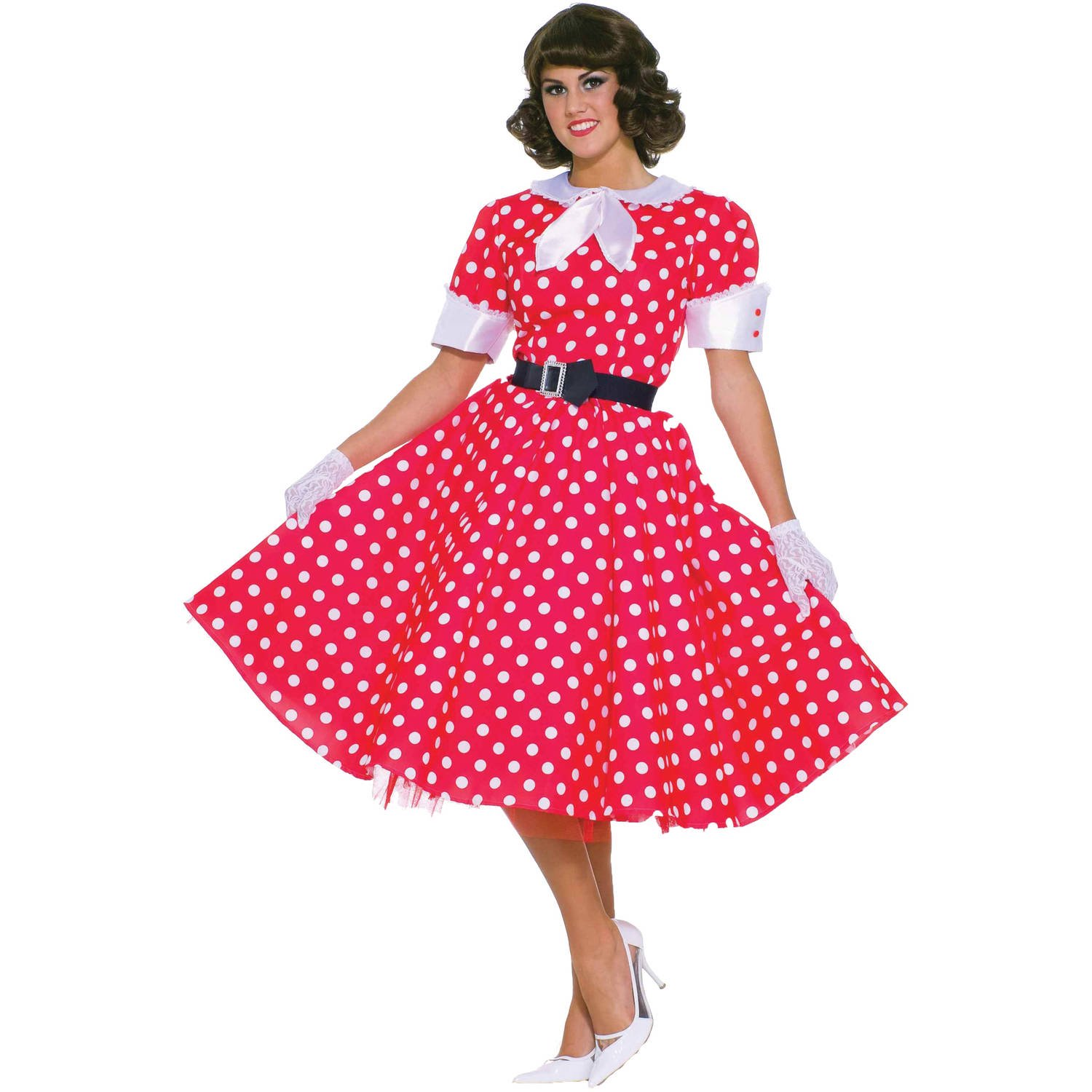 50s Housewife Womenu0027s Adult Halloween Costume One Size ...  sc 1 st  Walmart & 50S Costumes