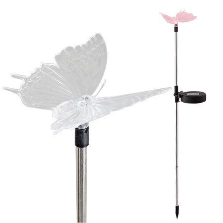 Outdoor Solar Garden Stake Light Solar Powered Color Changing LED Decorative Light (Butterfly Stake Light)