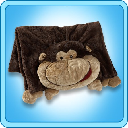 Authentic Pillow Pet Silly Monkey Blanket Plush Toy Gift - Walmart.com