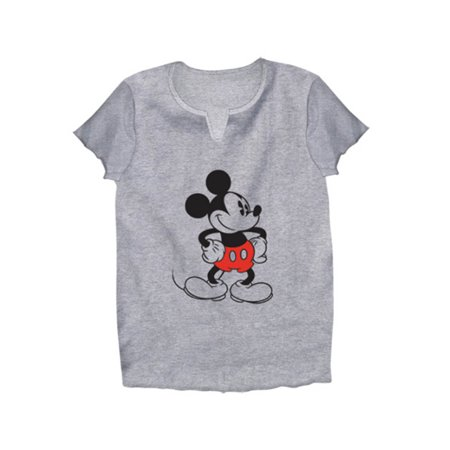 Disney Adult Old School Mickey Mouse Large V Neck Tee](Mickey Mouse Outfit For Adults)