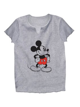 e010d5006 Product Image Disney Adult Old School Mickey Mouse Large V Neck Tee