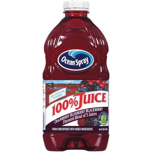 Ocean Spray Cranberry Blueberry Blackberry 100% Juice, 64 oz