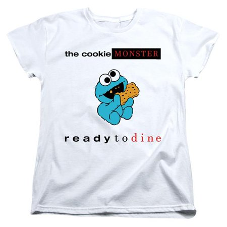 Trevco Sportswear SST272-WT-4 Sesame Street & Ready to Dine-Short Sleeve Womens Tee, White - Extra Large - image 1 de 1