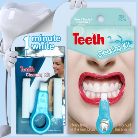 Pro Nano Teeth Whitening Kit Nano Cleaning Brush Tooth Stains Remover Teeth Cleaning Strips for Oral Cleaning(1 Handles + 2 Replacement (Best Way To Strip Stain)
