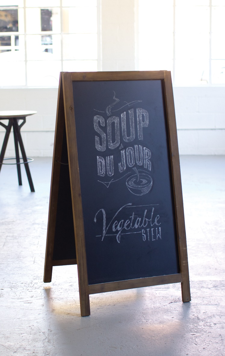 "48"" Tall Dual Sided Framed Chalkboard Stand Sidewalk Sale Cafe Menu Child Art by GwG Outlet"