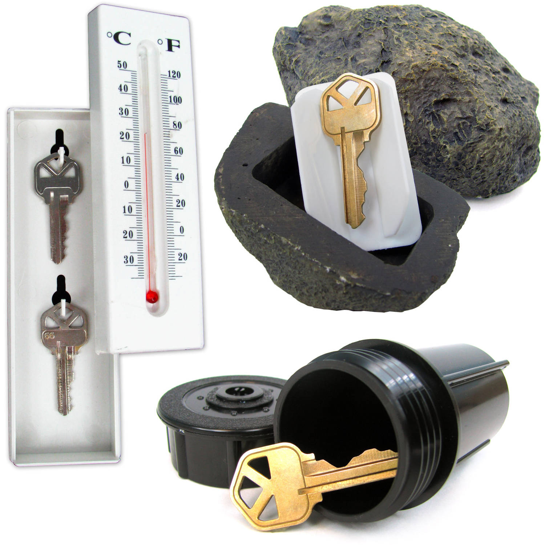 Hide a Key Safes Set, Includes Rock, Thermometer and Sprinkler
